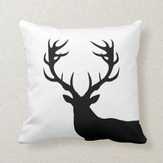 Black and White Buck Pillow