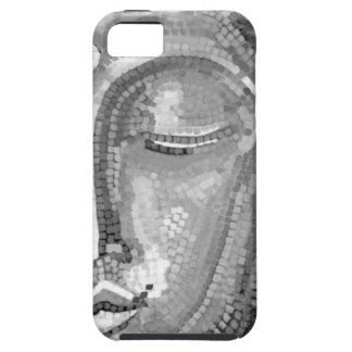 Black and White Buddha Face iPhone 5 Case