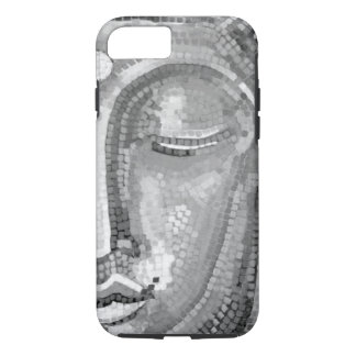 Black and White Buddha Face iPhone 7 Case