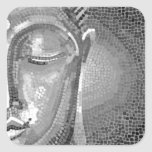 Black and White Buddha Face Stickers