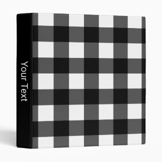 Black and White Buffalo Check 3-Ring Binder