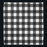 """Black and White Buffalo Check Bandana<br><div class=""""desc"""">This cute bandana is the perfect accessory for you,  your child or your favorite dog.</div>"""