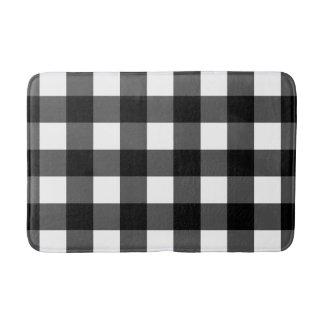 Black and White Buffalo Check Bath Mat