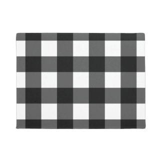 Black and White Buffalo Check Doormat