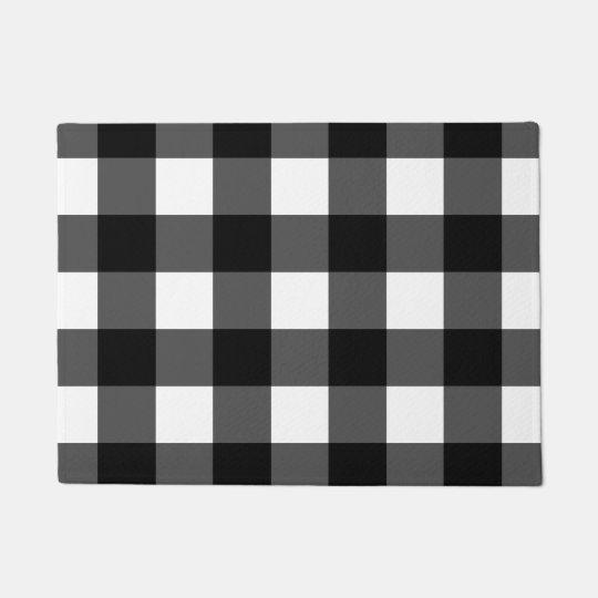Black And White Buffalo Check Doormat Zazzle Com