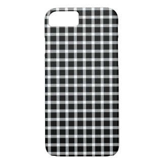 Black and White Buffalo Check Iphone Case