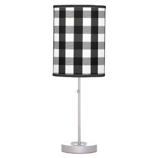 Black and White Buffalo Check Lumberjack Plaid Desk Lamp