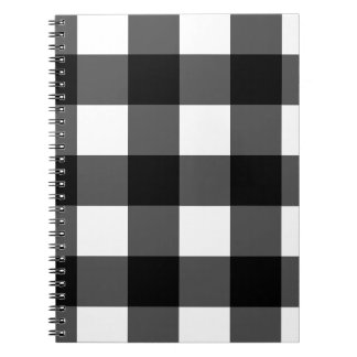Black and White Buffalo Check Notebook