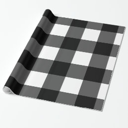 Black and White Buffalo Check Wrapping Paper