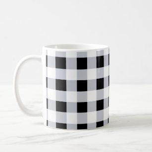 Black And White Buffalo Plaid Coffee Travel Mugs Zazzle