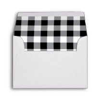 Black and white Buffalo Plaid Envelope