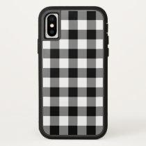 Black and White Buffalo Plaid iPhone X iPhone X Case