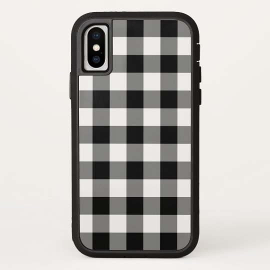 info for 8b5ec 0f885 Black and White Buffalo Plaid iPhone X Case-Mate iPhone Case