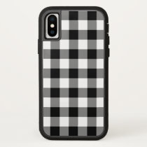 Black and White Buffalo Plaid iPhone X iPhone X Case