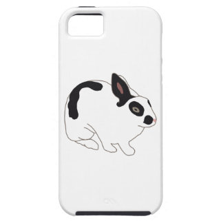 Black and White Bunny Rabbit iPhone 5 Cases