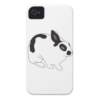 Black and White Bunny Rabbit iPhone 4 Case-Mate Case