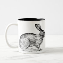 Black and White Bunny Rabbit Coffee Mug