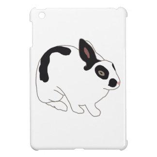 Black and White Bunny Rabbit iPad Mini Cover