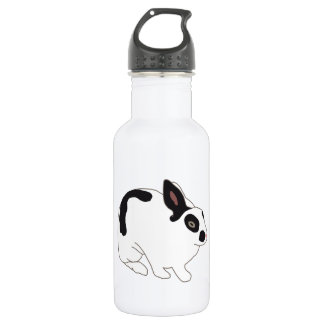 Black and White Bunny Rabbit Stainless Steel Water Bottle