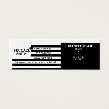Professional Business black and white business card