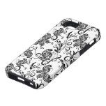 Black And White Butterflies  And Swirls Pattern iPhone 5 Cover