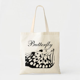 Black and white butterfly bag