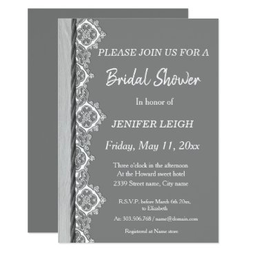 Wedding Themed Black and white butterfly Bridal shower Card