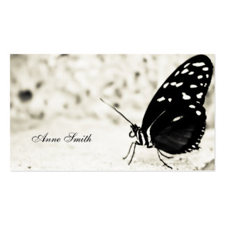 Black and White Butterfly Business Card