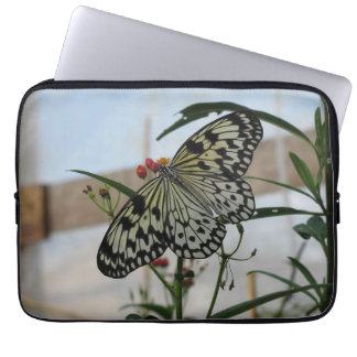 Black and white Butterfly Computer Sleeves