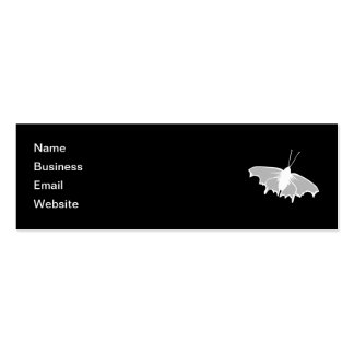 Black and White Butterfly Design. Double-Sided Mini Business Cards (Pack Of 20)