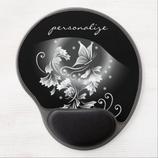 Black And White Butterfly Fantasy Gel Mouse Pad