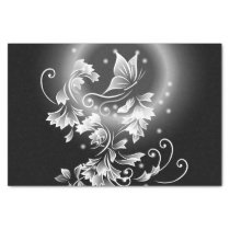 Black And White Butterfly Fantasy Tissue Paper