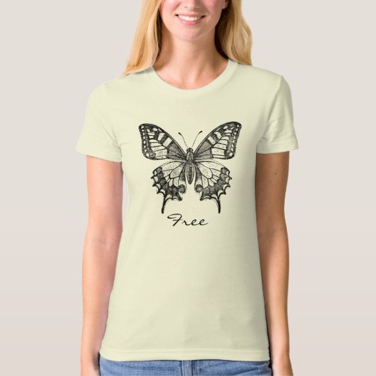 Black-and-White-Butterfly, Free T-Shirt
