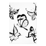 black and white butterfly.jpg stationery paper