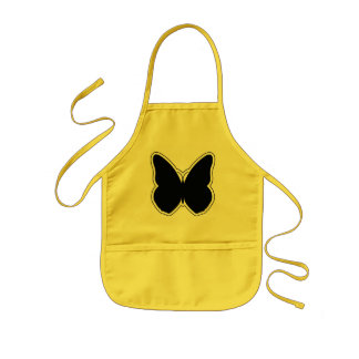 Black and White Butterfly Kids' Apron