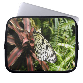 Black and White Butterfly Laptop Computer Sleeves