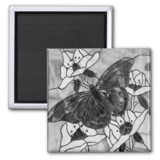 Black and white Butterfly Magnet