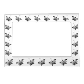 Black And White Butterfly Magnetic Frame