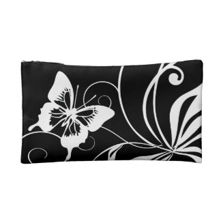 Black and White Butterfly Makeup Bag