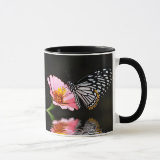 Black and White Butterfly Mug