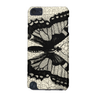 Black and White Butterfly on Cracked Background iPod Touch 5G Case