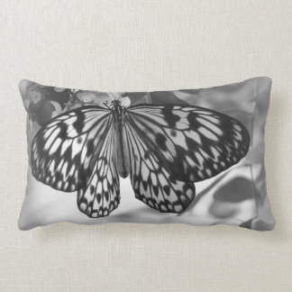 Black and White Butterfly Pillow