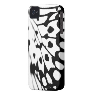 Black and White Butterfly Print iPhone 4 4s Case
