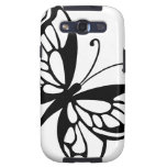 Black and White Butterfly Samsung Galaxy S3 Covers