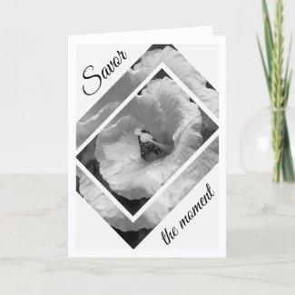 Black and White Butterfly Savor the moment Card