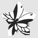 Black and White Butterfly Sticker