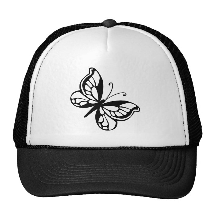 Black and White Butterfly Trucker Hat