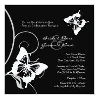 Black and White Butterfly Wedding Invitation (<em>$2.63</em>)