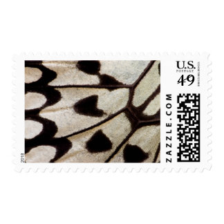 Black and white butterfly wing postage