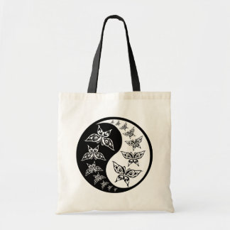 Black And White Butterfly Yin Yang Peace Symbol Tote Bag